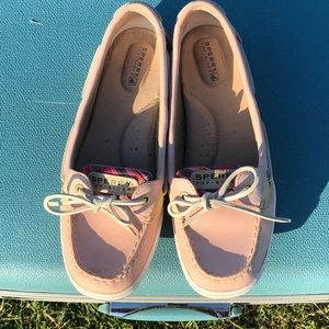 Pink Sperry Top-sider flats